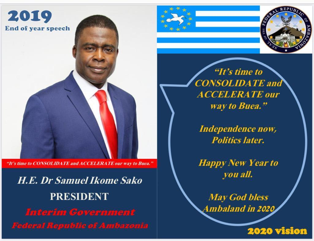 President Samuel Ikome Sako end of year address to the nation 31.12.2019